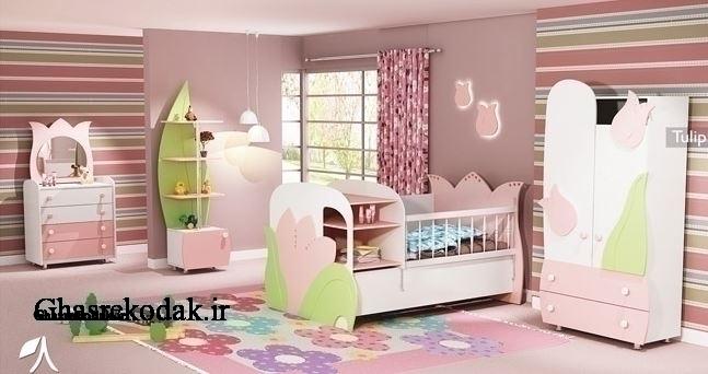 سرویس خواب کودک مدل تولیپ