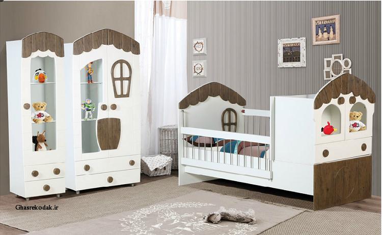 سرویس خواب نوزاد کلبه ی