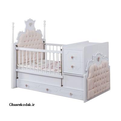 تخت دو منظوره مدل روژین نوزادی