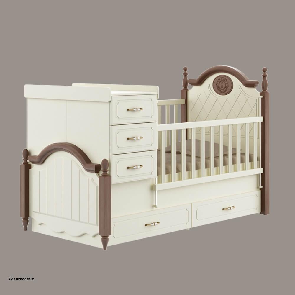 تخت دومنظوره سرویس خواب نوزادی لیون